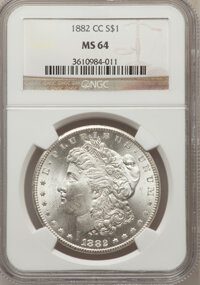 1882-CC $1 MS64 NGC. NGC Census: (4718/3259). PCGS Population (9991/5860). Mintage: 1,133,000. Numismedia Wsl. Price for...