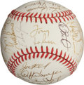 Autographs:Baseballs, 1990 Oakland Athletics Team Signed Baseball....
