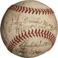 Autographs:Baseballs, 1939 Cincinnati Reds Team Signed Baseball....