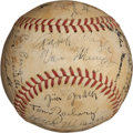 Autographs:Baseballs, 1932 Brooklyn Dodgers Team Signed Baseball....
