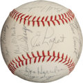 Autographs:Baseballs, 1963 Kansas City Athletics Team Signed Baseball....
