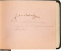 Autographs:Others, 1941 Joe DiMaggio Signed Autograph Book from Day Hit StreakEnded....