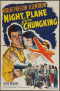 "Movie Posters:War, Night Plane from Chungking (Paramount, 1943). One Sheet (27"" X 41""). War.. ..."