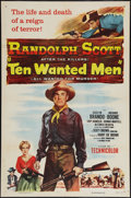"""Movie Posters:Action, Ten Wanted Men (Columbia, 1955). One Sheet (27"""" X 41""""). Action....."""