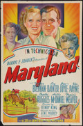 "Movie Posters:Drama, Maryland (20th Century Fox, 1940). One Sheet (27"" X 41"") Style B. Drama.. ..."
