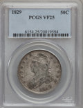 Bust Half Dollars: , 1829 50C Small Letters VF25 PCGS. PCGS Population (30/1257). NGCCensus: (19/1003). Mintage: 3,712,156. Numismedia Wsl. Pri...