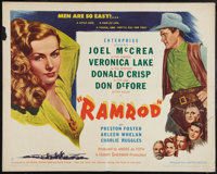 "Ramrod (United Artists, 1947). Half Sheet (22"" X 28"") Style B. Western"
