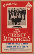 "Movie Posters:Rock and Roll, The New Christy Minstrels Concert Poster (1963). Window Card (14"" X22""). Rock and Roll.. ..."