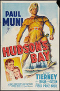 "Movie Posters:Adventure, Hudson's Bay (20th Century Fox, 1941). One Sheet (27"" X 41""). StyleB. Adventure.. ..."