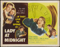 "Movie Posters:Mystery, Lady At Midnight (Eagle Lion, 1948). Half Sheet (22"" X 28"") StyleB. Mystery.. ..."