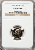 Proof Roosevelt Dimes, 2001-S 10C Clad PR70 Cameo NGC. NGC Census: (401). PCGS Population(262). Numismedia Wsl. Price for problem free NGC/PCGS ...