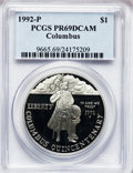 Modern Issues: , 1992-P $1 Columbus Silver Dollar PR69 Deep Cameo PCGS. PCGSPopulation (2442/48). NGC Census: (2223/40). Mintage: 385,241. ...