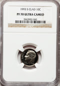 Proof Roosevelt Dimes: , 1993-S 10C Clad PR70 Ultra Cameo NGC. NGC Census: (217). PCGSPopulation (220). Numismedia Wsl. Price for problem free NGC...