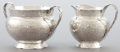 Silver Holloware, American, A SHIEBLER SILVER HOMERIC PATTERN CREAMER AND SUGAR BOWL .George W. Shiebler & Co., New York, New Y... (Total: 2 Items)