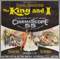 """The King and I (20th Century Fox, 1956). Six Sheet (81"""" X 81""""). Musical"""