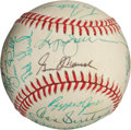 Autographs:Baseballs, 1986 California Angels Team Signed Baseball with Donny Moore....