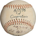 Autographs:Baseballs, 1978 Red Barber Single Signed Baseball from Hall of Fame....