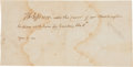 "Autographs:U.S. Presidents, Thomas Jefferson Dinner Invitation Signed ""Th: Jefferson.""..."