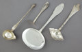 Silver Flatware, Continental:Flatware, FOUR CONTINENTAL SILVER SERVING PIECES . W&S Sorensen, Garin& Langlye, and unknown, Copenhagen, Denmark, circa 1925.Marks:... (Total: 4 Items)