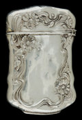 Silver Smalls:Match Safes, AN AMERICAN SILVER MATCH SAFE . Maker unknown, American, circa1900. Marks: STERLING, OO, (effaced) . 2-1/2 inches high ...