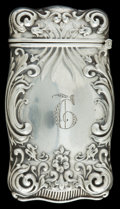 Silver Smalls:Match Safes, AN AMERICAN SILVER MATCH SAFE . Maker unknown, American, circa1900. Marks: STERLING, 225. 2-5/8 inches high (6.7 cm). ...