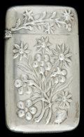 Silver Smalls:Match Safes, AN AMERICAN SILVER MATCH SAFE . Maker unknown, American, circa1900. Marks: STERLING, 092. 2-5/8 inches high (6.7 cm). 1...
