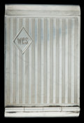 Silver Smalls:Match Safes, A SCHARLING SILVER MATCH SAFE . Scharling & Co., Newark, NewJersey, circa 1916. Marks: (S-EZ open), STERLING, PAT. MAY23...