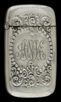 Silver Smalls:Match Safes, AN AMERICAN SILVER AND SILVER GILT MATCH SAFE . Maker unknown,American, circa 1900. Marks: STERLING . 2-1/8 inches high...
