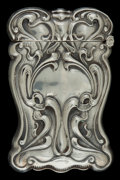 Silver Smalls:Match Safes, AN AMERICAN SILVER MATCH SAFE . Maker unknown, American, circa1900. Marks: STERLING . 2-1/2 inches high (6.4 cm). .7 tr...