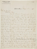 Autographs:Celebrities, [Cole Younger] and [Frank James]. Autograph Letter Regarding Frank James with a Notation Written and Signed by Cole Younger....