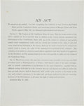 Miscellaneous:Broadside, [Confederate Congress]. An Amendment to an Act RecognizingPrivateers....