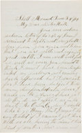 Miscellaneous:Ephemera, [Civil War] and [Military Burial]. Union Soldier's Letter....