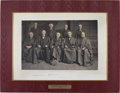 Autographs:Statesmen, Fuller Supreme Court Oversized Photograph Signed by Chief Melville Fuller and all eight associate justices:...
