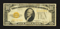 Small Size:Gold Certificates, Fr. 2400 $10 1928 Gold Certificate. Very Fine.. ...