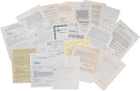 A Huge Collection of Movie Star Signed Contracts, 1930s-1990s
