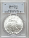 Modern Bullion Coins, 2005 $1 Silver Eagle MS70 PCGS. PCGS Population (27). NGC Census:(3378). Numismedia Wsl. Price for problem free NGC/PCGS ...