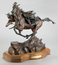 KEN PAYNE (American, b. 1938) Victory Shield, 1992 Bronze with patina 18-1/2 inches (47.0 cm) inc