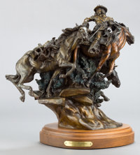 KEN PAYNE (American, b. 1938) Quittin' Montana, 1988 Bronze with patina 14-1/2 inches (36.8 cm) i