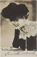 Autographs:Celebrities, Sarah Bernhardt Signed Photograph....