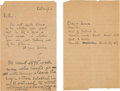 Autographs:Inventors, Thomas and Charles Edison Autograph Letter Signed by Thomas Edison....