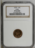 Patterns: , 1870 10C Standard Silver Ten Cents, Judd-846, Pollock-945, R.7,PR65 Red NGC. (...