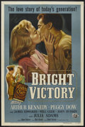 """Movie Posters:Drama, Bright Victory (Universal International, 1951). One Sheet (27"""" X41""""). Romance. Starring Arthur Kennedy, Peggy Dow, Julie Ad..."""
