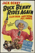 "Movie Posters:Comedy, Buck Benny Rides Again (Paramount, 1940). One Sheet (27"" X 41""). Comedy. Starring Jack Benny, Ellen Drew, Phil Harris, Eddie..."