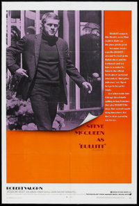 "Bullitt (Warner Brothers, 1968). One Sheet (27"" X 41""). Action Thriller. Directed by Peter Yates. Starring Ste..."