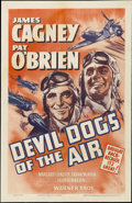 """Movie Posters:Action, Devil Dogs of the Air (Warner Brothers, R-1940s). One Sheet (27"""" X 41""""). Action. Starring James Cagney, Pat O'Brien, Margare..."""