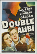 "Movie Posters:Crime, Double Alibi (Universal, 1940). One Sheet (27"" X 41""). Crime.Starring Wayne Morris, Margaret Lindsay, William Gargan, and R..."