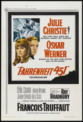 """Movie Posters:Science Fiction, Fahrenheit 451 (Universal, 1967). One Sheet (27"""" X 41""""). Science Fiction. Starring Oskar Werner, Julie Christie, Cyril Cusac..."""