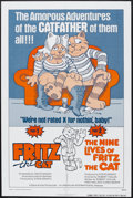 "Movie Posters:Animated, Fritz the Cat/The Nine Lives of Fritz the Cat Combo (AIP, R-1975). One Sheet (27"" X 41""). Animated. Starring the voices of S..."