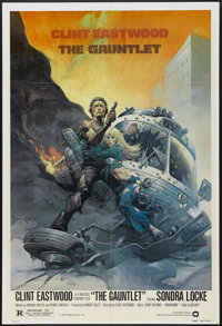"""The Gauntlet (Warner Brothers, 1977). One Sheet (27"""" X 41""""). Action Thriller. Starring Clint Eastwood, Sondra..."""
