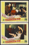 "Movie Posters:Musical, Gentlemen Prefer Blondes (20th Century Fox, 1953). Title Lobby Card (11"" X 14"") and Lobby Cards (2) (11"" X 14""). Musical Com... (Total: 3 Item)"